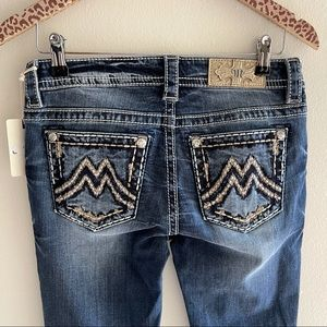 MISS ME Embellished Boot Jeans Rhinestones NEW